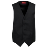 MANTONI 100% ITALIAN WOOL SOLID BLACK VEST Thumbnail