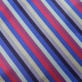 C079. PURPLE/BLUE/PINK STRIPE TIE & HANKY SET Thumbnail