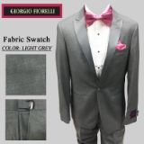 04. LIGHT GREY SATIN PEAK LAPEL MODERN FIT Thumbnail