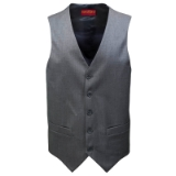 MANTONI 100% ITALIAN WOOL SOLID GREY VEST Thumbnail