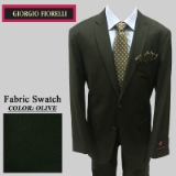 12. OLIVE SOLID 2 PIECE 2-BUTTON SUIT Thumbnail
