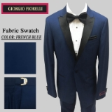 08. FRENCH BLUE BLACK PEAK LAPEL MODERN FIT Thumbnail