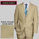10. NEW BEIGE SOLID 2 PIECE 2-BUTTON SUIT Thumbnail