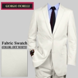 14. OFF WHITE SOLID 2 PIECE 2-BUTTON SUIT Thumbnail