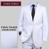 15. WHITE SOLID 2 PIECE 2-BUTTON SUIT Thumbnail