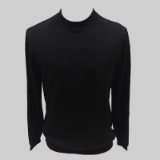 25. BLACK SOLID MOCK NECK SWEATER Thumbnail