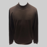 29. BROWN SOLID MOCK NECK SWEATER Thumbnail