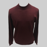 30. BURGUNDY SOLID MOCK NECK SWEATER Thumbnail
