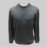 26. CHARCOAL SOLID MOCK NECK SWEATER Thumbnail