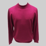 32. MAGENTA SOLID MOCK NECK SWEATER Thumbnail