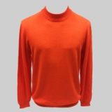 34. PINK SOLID MOCK NECK SWEATER Thumbnail