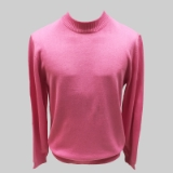 33. PINK SOLID MOCK NECK SWEATER Thumbnail