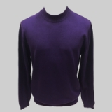 28. PURPLE SOLID MOCK NECK SWEATER Thumbnail