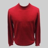 31. RED SOLID MOCK NECK SWEATER Thumbnail