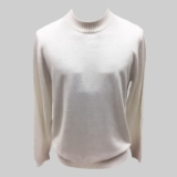 36. WHITE SOLID MOCK NECK SWEATER Thumbnail