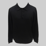20. BLACK SOLID POLO COLLAR SWEATER Thumbnail