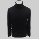 01. BLACK SOLID TURTLE NECK SWEATER Thumbnail