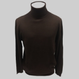06. BROWN SOLID TURTLE NECK SWEATER Thumbnail