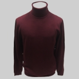 08. BURGUNDY SOLID TURTLE NECK SWEATER Thumbnail
