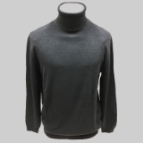 02. CHARCOAL SOLID TURTLE NECK SWEATER Thumbnail