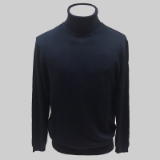 03. NAVY SOLID TURTLE NECK SWEATER Thumbnail