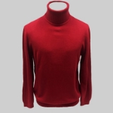 09. RED SOLID TURTLE NECK SWEATER Thumbnail