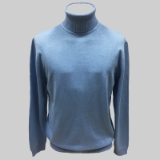 04. SKY BLUE SOLID TURTLE NECK SWEATER Thumbnail