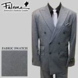 45. FALCONE GREY SOLID DOUBLE BREASTED SUIT Thumbnail