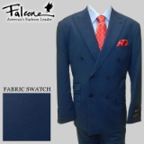 46. FALCONE BLUE SOLID DOUBLE BREASTED SUIT Thumbnail