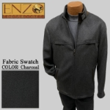 10.CHARCOAL CASHMERE/WOOL SHORT ZIPPER JACKET Thumbnail