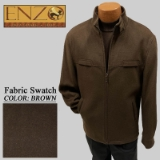 11. BROWN CASHMERE/WOOL SHORT ZIPPER JACKET Thumbnail