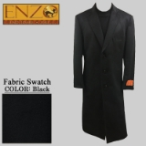 01. BLACK CASHMERE/WOOL LONG TOP COAT Thumbnail