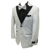35. SILVER/BLACK GLITTER PARTY SPORTCOAT Thumbnail