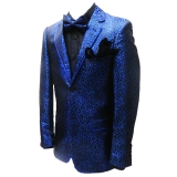 41. ROYAL BLUE/BLACK LEOPARD PARTY SPORTCOAT Thumbnail