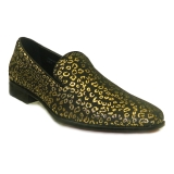 09. GOLD/BLACK LEOPARD PATTERN SLIP ON SHOE Thumbnail