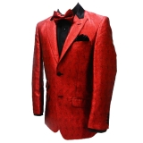 36. RED SPARKLY CURLES PARTY SPORTCOAT Thumbnail