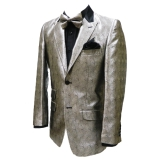 37. SILVER SPARKLY CURLES PARTY SPORTCOAT Thumbnail