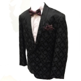42. BLACK TONAL FLOWER SHAWL LAPEL SPORTCOAT Thumbnail