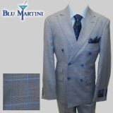 93. GREY/BLUE WINDOWPANE DOUBLE BREASTED Thumbnail
