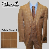 72. FALCONE RUST/BLUE PLAID VESTED SUIT Thumbnail