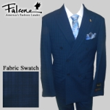 89. NAVY BLUE TONAL CHECK DOUBLE BREASTED Thumbnail
