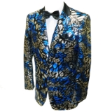 38. BLUE/BLACK FLORAL SEQUIN SPORTCOAT Thumbnail