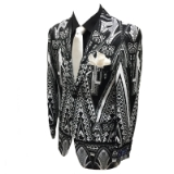 43. BLACK/WHITE AZTEC PRINT FASHION SPORTCOAT Thumbnail