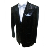 24. BLACK VELVET SILVER DOTS PARTY SPORTCOAT Thumbnail