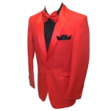 19. RED TONAL PAISLEY PARTY SPORTCOAT Thumbnail