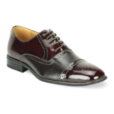 06. BURGUNDY LEATHER LACE UP SHOE (5925) Thumbnail