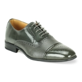 02. GREY LEATHER LACE UP SHOE (5925) Thumbnail