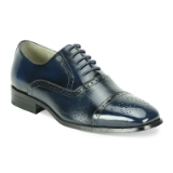 03. NAVY LEATHER LACE UP SHOE (5925) Thumbnail