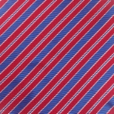 C094. RED/BLUE STRIPE TIE & HANKY SET Thumbnail