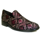 02. MAGENTA/SILVER SPARKLY PAISLEY PARTY SHOE Thumbnail